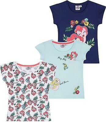 My Little Pony Girls Short Sleeve Tops T-Shirts 100% Cotton Characters 2-8 Years