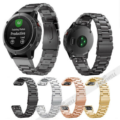 AU Quick Stainless Steel Band For Garmin Fenix 3/Fenix 5 5X/5S Plus Watch Strap