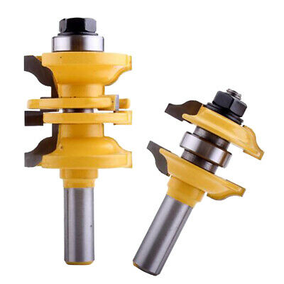2Pcs 1/2 Shank Entry & Interior Door Tenon Ogee Matched R&S Router Bit Set