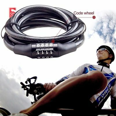Bicycle Bike Key Lock Code Cycling Password Combination Security Steel Wire