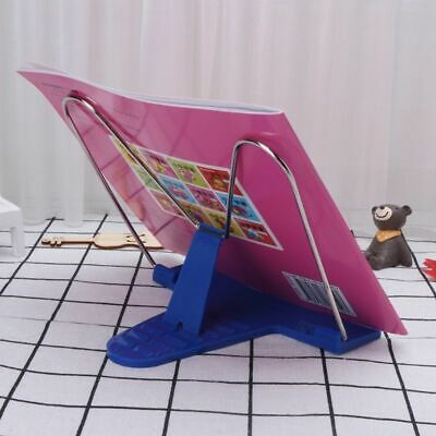 Adjustable Angle Metal Book Stand Foldable Portable Document Book Reading Holder