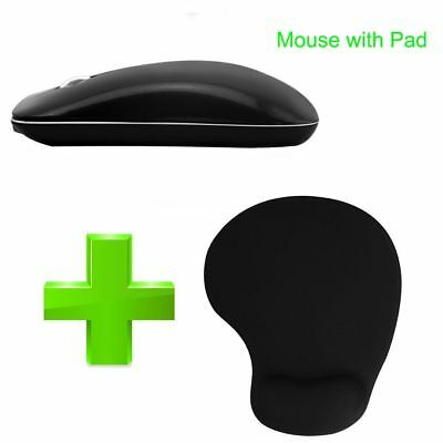 Rechargeable Wireless Mouse 1200/1600dpi Computer Mice Wrist Rest Mouse Pad Kits