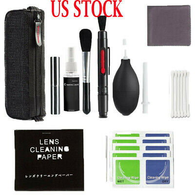 US Professional Lens Cleaning Kit For DSLR Cameras Photo Practical Brush Kit New