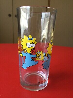 Nutella 1998 Collectable Glass Maggie From The Simpsons