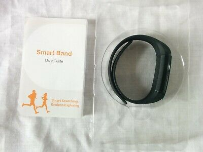 Fitness Activity Tracker Smart Band Watch Fitbit Pedometer Calories ID115 Black*