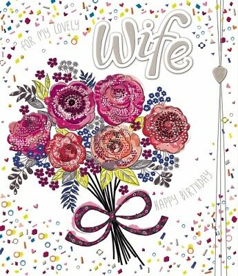 Wife Birthday Card Fizz by Noel Tatt