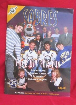 25th Silver Anniversary Buffalo Sabres  Commemorative Program Yearbook Magazine