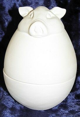 Ceramic Bisque Ready to Paint Russian Babushka Doll Pigs Set
