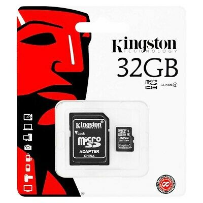 Kingston Micro Sdhc 32Gb Classe 4 4Mb/S Con Adattatore Incluso Memory Card