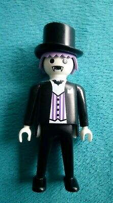 PLAYMOBIL COUNT DRACULA Figure 4506 Top Hat Purple Cloak Goth ... 6959fe9aa307