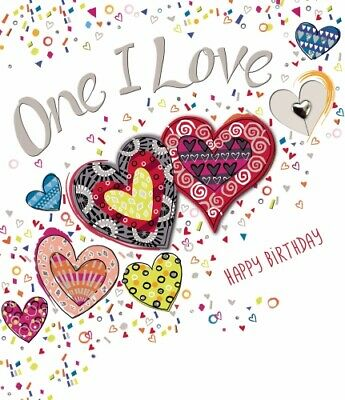 One I Love Birthday Card Fizz by Noel Tatt