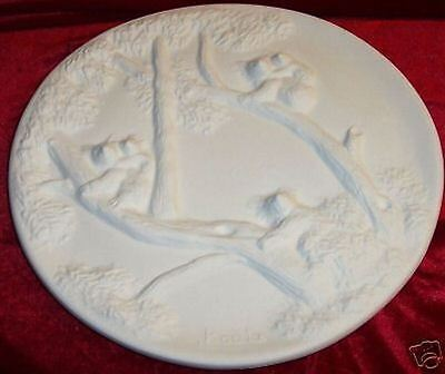 Ceramic Bisque Ready to Paint Koala Plate 10""