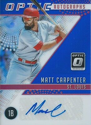 2018 Panini Donruss Optic #OA-MA Autograph 24/25 Matt Carpenter Cardinals MLB