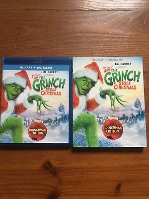 How the Grinch Stole Christmas (Blu-ray Disc, 2015) SLIPCOVER No digital