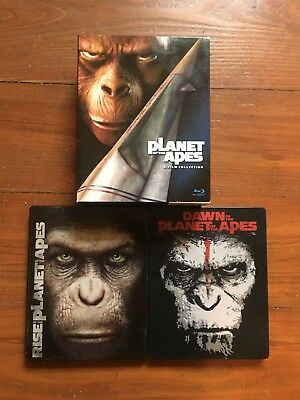 Planet of the Apes Blu-ray collection 7 films 2 Steelbooks Rise and Dawn