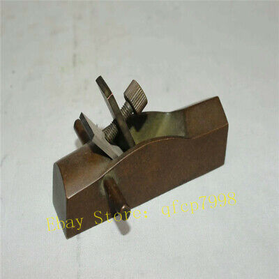 Collect old China copper Wood Hand Planer Woodworking Flat Plane carpenter tool
