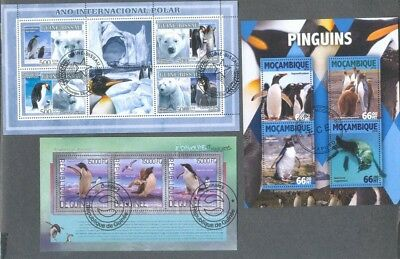 Penguins-Birds 25 all different stamp collection(min sheets)