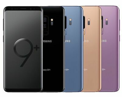 Samsung Galaxy S9+PLUS G965U  64GB  AT&TGSM UNLOCKED Blue Purple Black WARRANTY