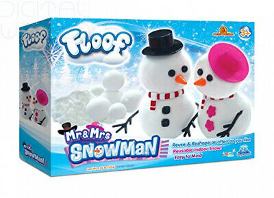 Floof Mr & Mrs Snowman Kit Moudable reusable indoor snow