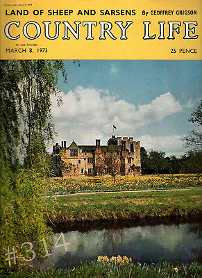 COUNTRY LIFE Magazine 8 March 1973 Birthday Gift ... Land of Sheep and SARSENS