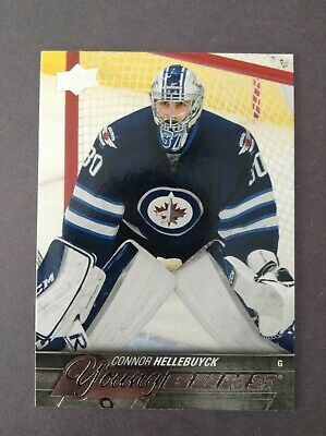 15/16 Upper Deck Series One Young Guns Connor Hellebuyck Yg Rc Jets