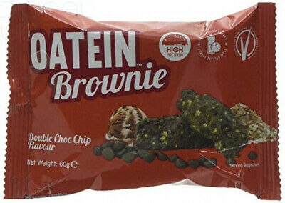 Oatein Brownie 15x60g High Protein Oat Complex High Fibre Snack Double Choc Chip