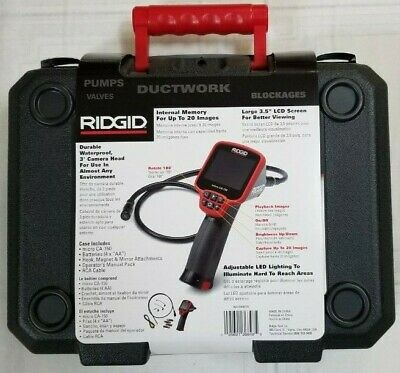 RIDGID Micro CA-150 Inspection Camera Ft Cable Waterproof Head Image Capture