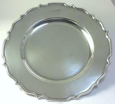 Antique hallmarked Sterling Silver Coaster/Plate/Waiter/Tray–Chester 1911 (220g)