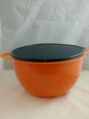 Tupperware NEW Mega Thatsa Bowl Mix Store orange sparkle/black 42 cups