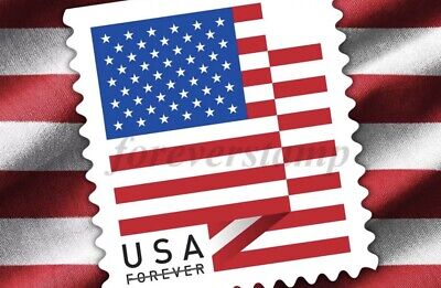 100 (1 roll of 100) USPS FOREVER STAMPS US FLAG COIL - FIRST CLASS POSTAGE