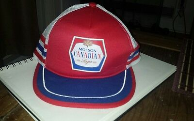 3578d725f7b Molson Canadian Lager Beer vintage Snapback trucker hat cap retro colors