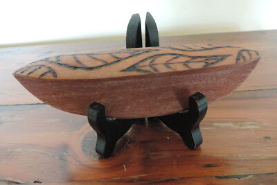 Australian Indigenous – carved wooden - food bowl