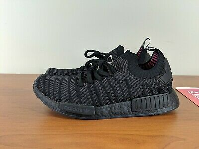 62e3dde2dba6 Adidas NMD R1 STLT Primeknit Boost Mens Shoes Sneakers Black CQ2391 Size  10.5