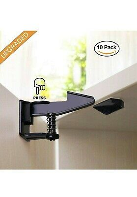 Baby Proof Baby And Child Proof Safety Cabinet Locks Black 10 Pack