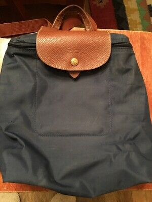71c0798ae66 LONGCHAMP PARIS LE Pliage Backpack Navy Blue As Is Condition ...
