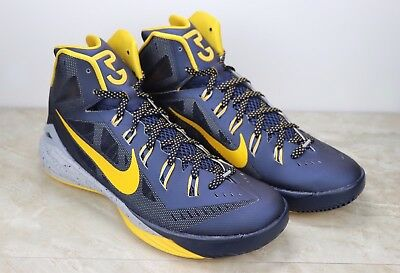 info for 96b50 53df5 Nike Hyperdunk 2014 PE Paul George Indiana Pacers Blue Yellow 709907-470  Size 11