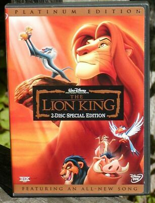 The Lion King (DVD, 2003, 2-Disc Set, Platinum Edition, All-New Song) Disney