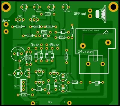 Amplifier Clip-Power-Signal  and Protect    PCB  and Components