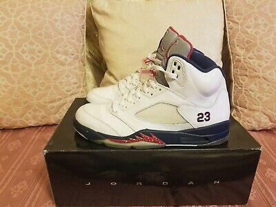 72d8483d6f7e45 2011 NIKE AIR JORDAN 5 V RETRO Olympic Independence Day 136027-103 sz 10