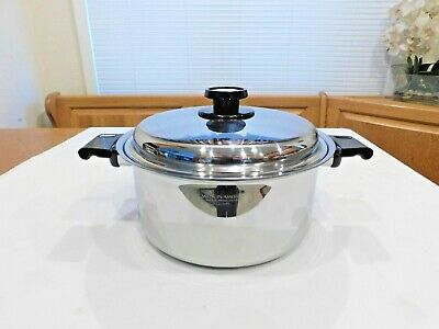 AMERICRAFT KITCHEN CRAFT 8 QT Roaster Stock Pot 7 Ply Stainless Steel Waterless