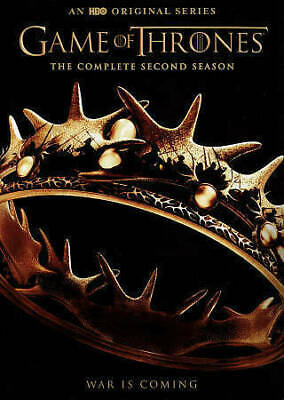 Game of Thrones: The Complete Second Season (DVD, 2015, 5-Disc Set,10 episodes)
