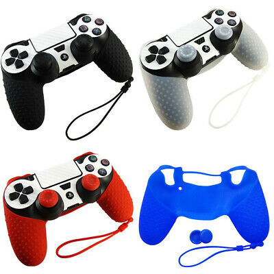 Silicone Soft Case Skin Grip Thumb Cap Cover For PlayStation 4 PS4 Controller AU
