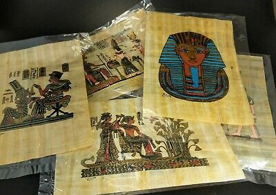 Rare handmade Old Papyrus 20x14cm 5 card size made over 20 years ago JCE11