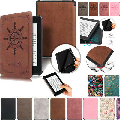 For Kindle Paperwhite 2018 10th Generation Ultra thin Smart Retro Leather Cover
