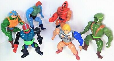 Lot of 6 Masters of the Universe He Man Battle Faker MOTU 81/83 Mattel Figures