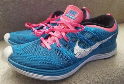 072d1313e471d Nike Lunar Flyknit One+ 554887-414 men s running shoes size 11 preowned  turquo
