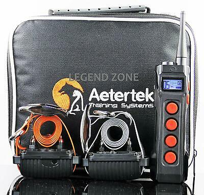Aetertek At-919C 2-Dog 1100 Yard Ultra Range Remote Training Shock Collar With