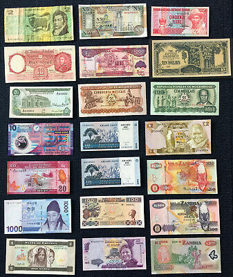 World Banknote Lot - Very Good to UNC - Modern Issues