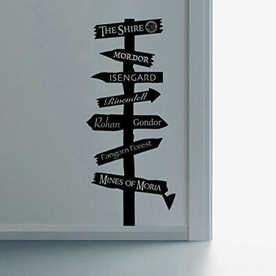 Lord of the Rings Inspired Road Sign Wall Art Vinyl Decal Sticker