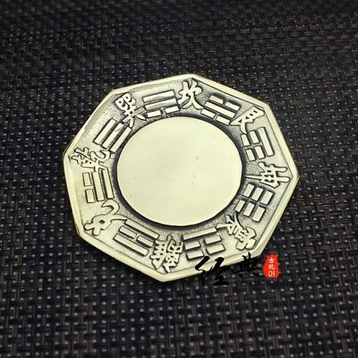 """4.3/"""" Chinese Fengshui Bronze Eight Diagrams Exorcise Evil Spirits Bagua Mirror"""
